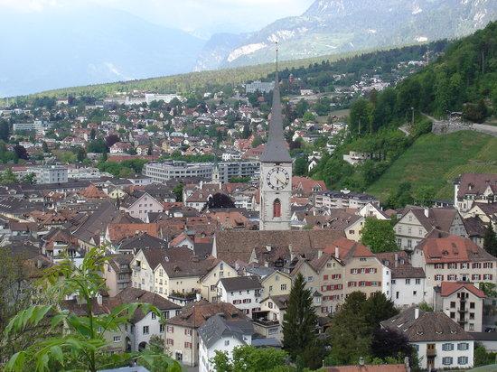 Coire, Suisse : Blick auf Chur