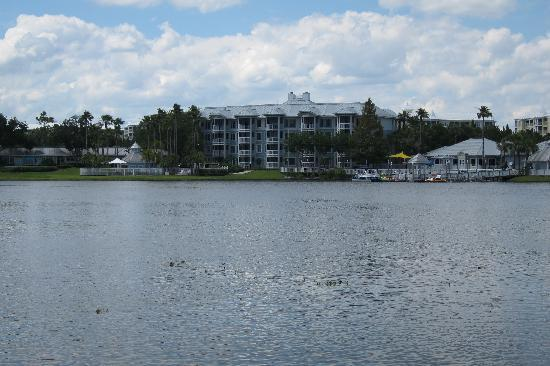 Marriott's Cypress Harbour Villas: our building from across the lake