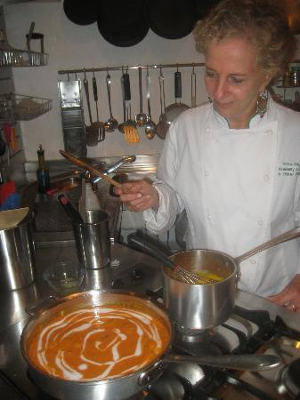 Academy of Cooking and Other Pleasures: Making the sauce for poaching.