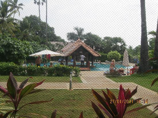 Poovar Island Resort: VIEW OF THE POOL FROM THE RESTAURANT
