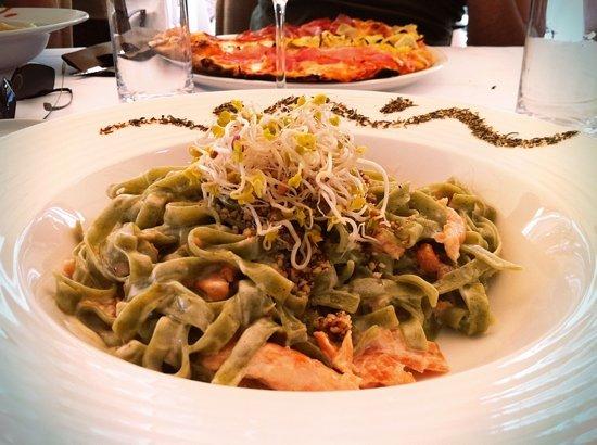 Stefano: pasta with salmon