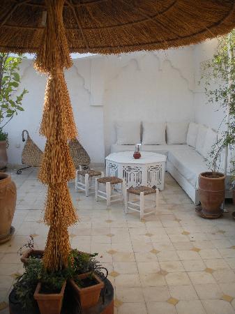 Riad Aguaviva: todo es un regalo para la vista. terraza de arriba.