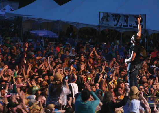 Prince Edward Island, Canada: Cavendish Beach Music Festival under the stars