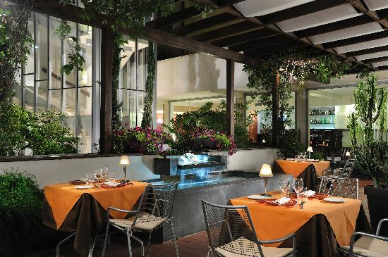 Athenaeum Hotel: our patio - restaurant