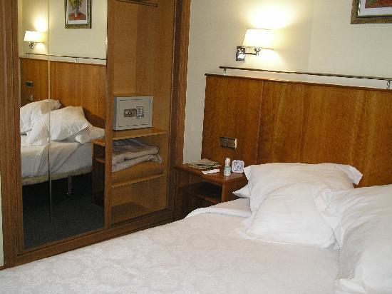 The Hotel Ciudad de Compostela.