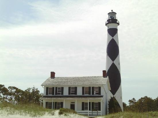 Harkers Island, Северная Каролина: Keeper's Cottage and lighthouse