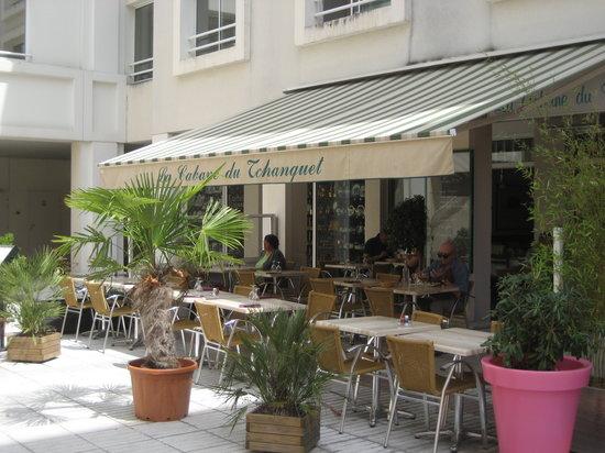 La Cabane du Tchanquet : L'entrée du restaurant