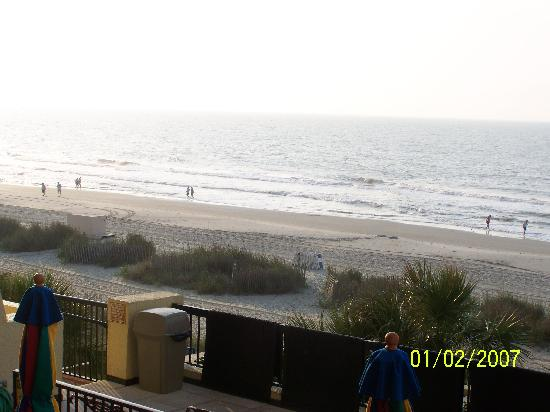 Compass Cove Oceanfront Resort: view in the morning