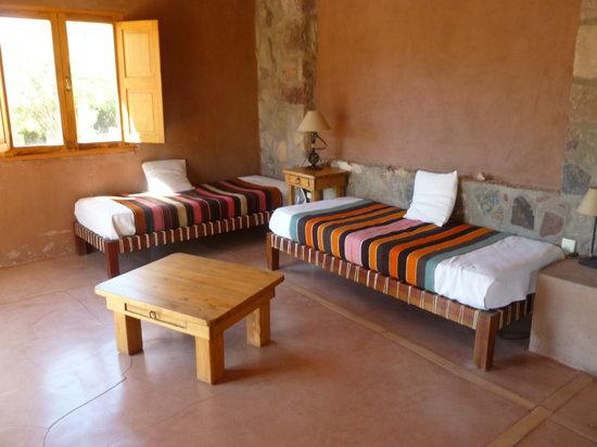 Cerro Chico: living de la cabaña