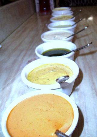 Benitto's Paninoteca Bar : The famous dipping sauces