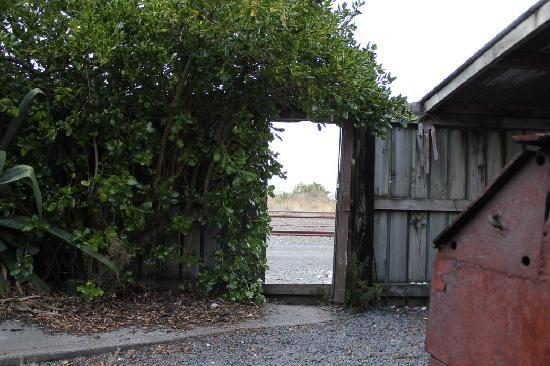 Sunrise Lodge: doorway to ocean