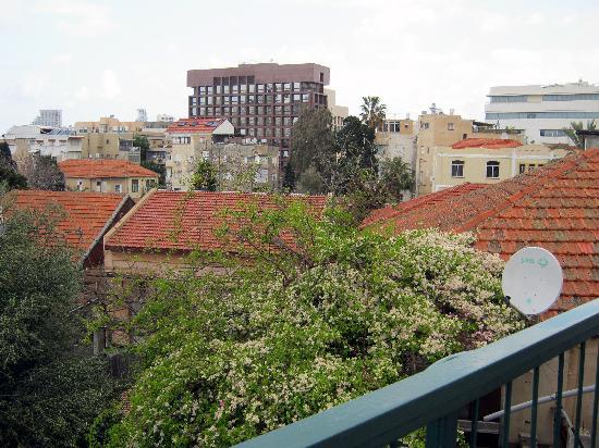 Villa Vilina Oasis in Neve Tzedek: View from balcony at Villa Vilina