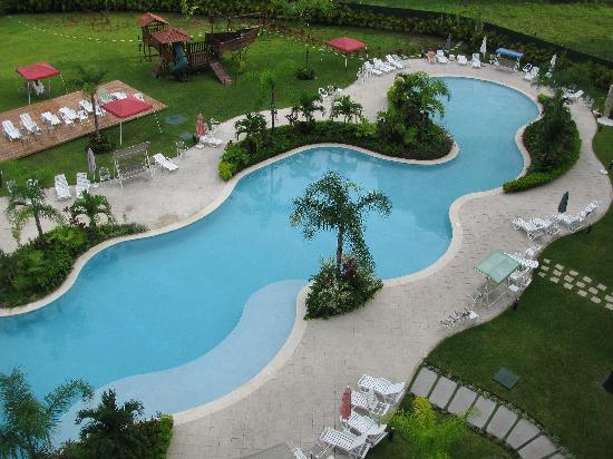 Jaco Bay Resort Condominium: pool--crowning glory of this resort