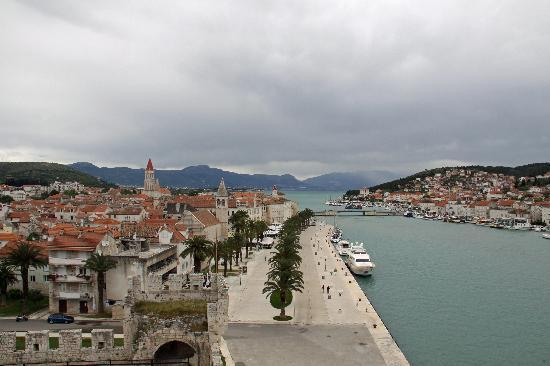 Trogir viewed from the Kamerlengo Castle