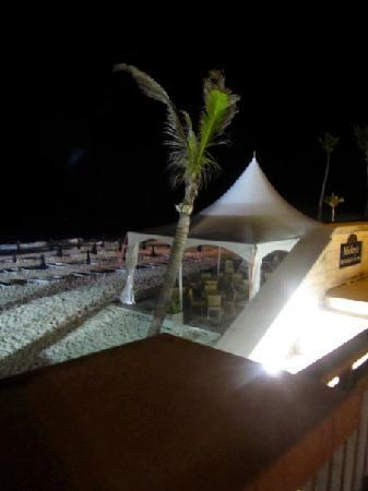 Elbow Beach, Bermuda : View from the restaurant at night