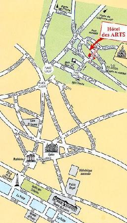 Hotel Des Arts : map