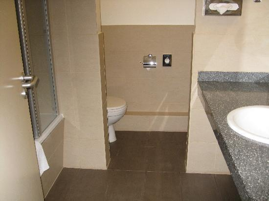 NH Muenchen Deutscher Kaiser : Bathroom was nice except for weird shower door