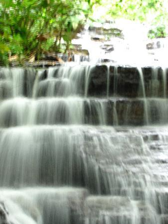 Waterfall Villas: The waterfall on the property, from a viewing platform