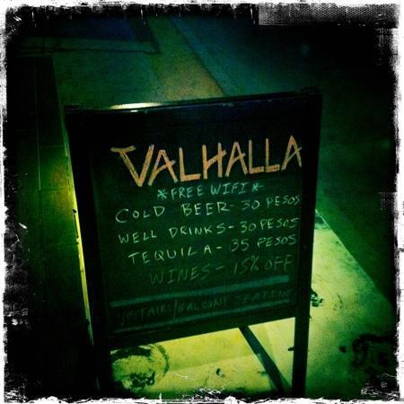 Valhalla Bar & Wine Room: outside the bar
