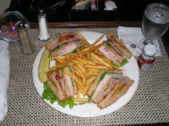 Omni Charlottesville: great club sandwich