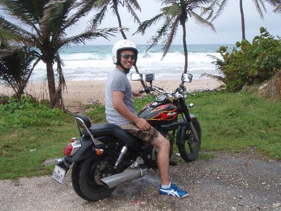 Caribbean Motorcycle Guided Tours: Quick stop at the beach