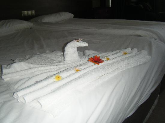 Jasmine Beach Resort: SWAN TOWELS