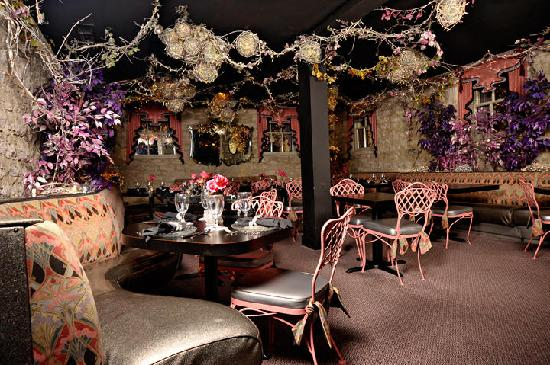 One of three dining rooms in The Glitz