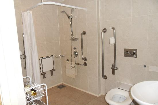 Disabled shower room picture of tankersley manor hotel - Disabled shower room ...