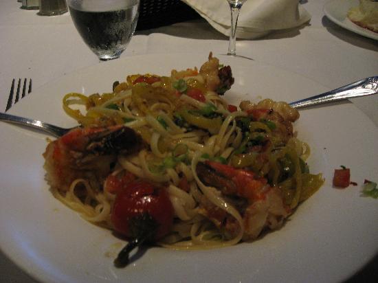 The Galaxy Restaurant : Shrimp Diablo (after beginning eating)