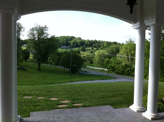 Bed and Breakfast on Tiffany Hill: view from front porch