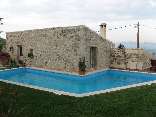 Swimming pool at dusk, Villa Kerasia
