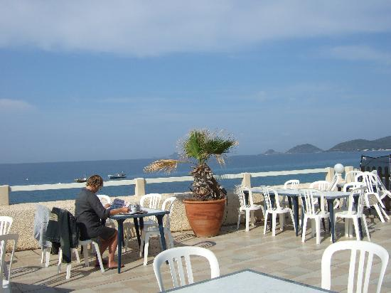 Hotel Stella di Mare : Petit déj avec vue sur les Sanguinaire