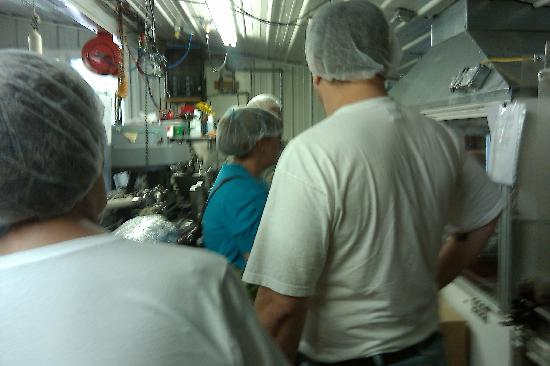 Tasty Morsel Culinary Excursions: You know you're behind the scenes if you have to wear a hairnet.