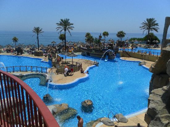 Holiday Village: Beach Club from footbridge