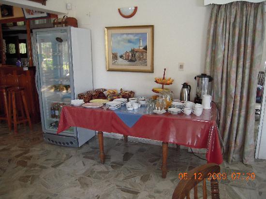 Piroska Hotel : Der Fühstücksbuffet