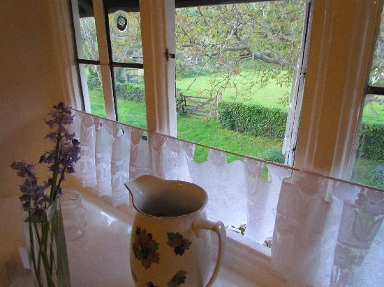 Tudor Cottage: View out of Bossington Room