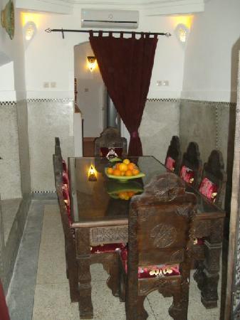 Riad Des Orangers : Salle à Manger RdC