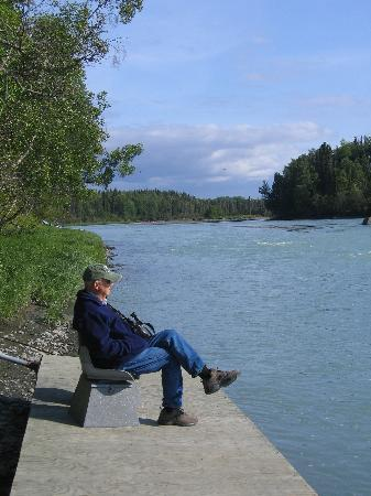 Some relaxing time on the dock (Alaska Riverview Lodge)