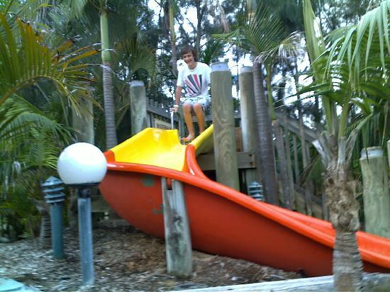 NRMA Ocean Beach Holiday Park: Waterslide into pool