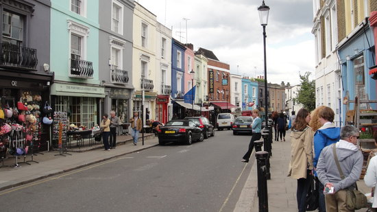 main street in Notting Hill