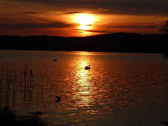 Kochel am See, Alemania: Abendstimmung am Kochelsee
