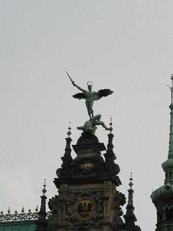 Rathaus: Statue of St. Michael