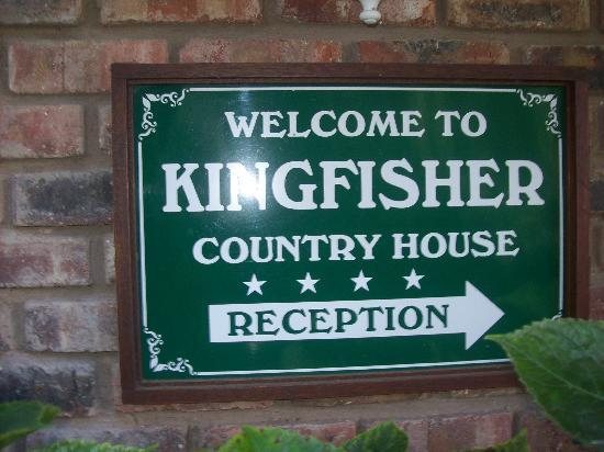 Kingfisher Country House: THE KINGFISHER SIGN