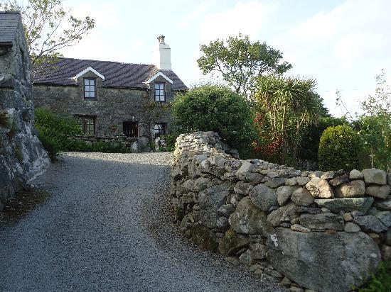 Tyddyn Iolyn Farmhouse: Pulling up to the main house