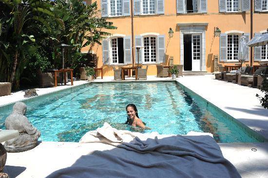 pool at hotel picture of pan dei palais saint tropez. Black Bedroom Furniture Sets. Home Design Ideas