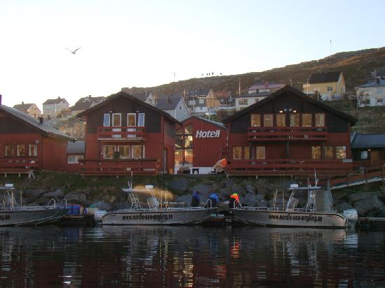 Havoysund, Норвегия: Hotel's view from the sea