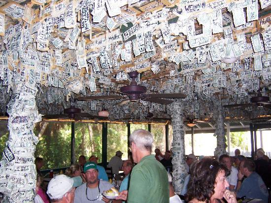 Cabbage Key Inn Restaurant: Interior