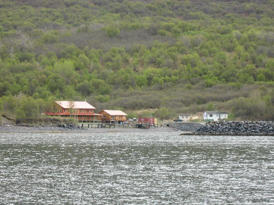 Alaska's Kodiak Island Resort: Kodiak Island Resort, taken from the fishing boat
