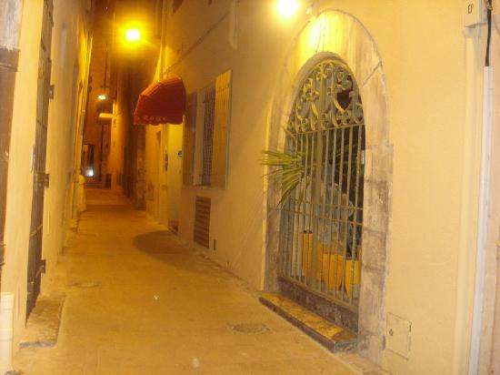 The Narrow Road On Which The Hotel Is Located