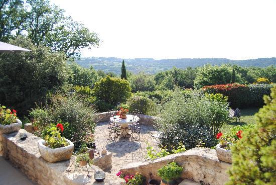 Maison d'hôtes La Guillone : panorama dalla terrazza colazione